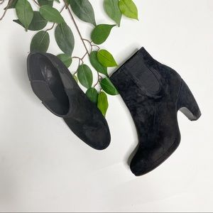 Rachel Comey Black Suede Chunky Heel Ankle boots